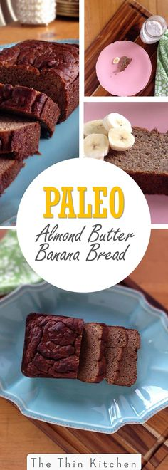 Paleo Banana Almond Butter Bread #paleo #grainfree #glutenfree