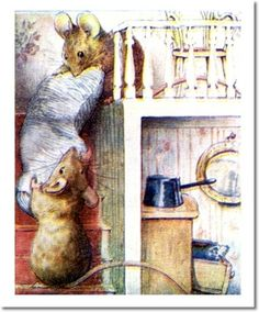 The Tale of Two Bad Mice - 1904 - Mice Carry Bolster Down Stairs