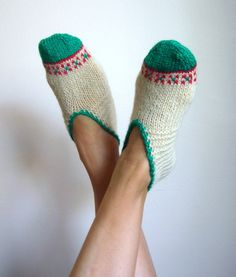 wool slippers.