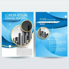 blue flyer template Business brochure template with Blue Curve shapes Vector Template Flyer, Free Banner Templates, Business Flyer Templates, Brochure Template, Design Templates, Free Brochure, Business Brochure, Brochure Design, Flyer Design