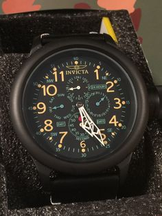 Invicta 52mm Russian Diver Quartz Multi Function Leather Strap Watch. Model: 21369