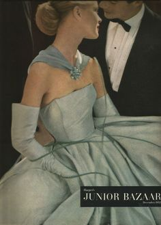 Lillian Bassman 5-Page Junior Bazaar Fashion Editorial December 1952