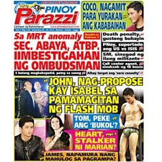 Pinoy Parazzi Vol 7 Issue 119 September 26 – 28, 2014 http://www.pinoyparazzi.com/pinoy-parazzi-vol-7-issue-119-september-26-28-2014/