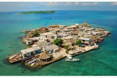 With about 1200 people on the tiny land area of 0.012km², the Colombian island Santa Cruz del Islote is the most densely populated island in the world (about 100,000 people per km²).