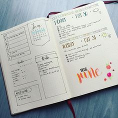 weekly layout idea ( I like the idea of a one-page week-at-a-glance)