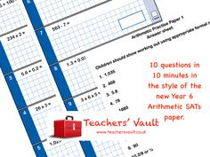 KS2 SATs Arithmetic Practise Papers - free maths teaching resources - Y6 KS2