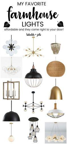 My Favorite Affordable Modern Farmhouse Lights to Update Modern Farmhouse Lighting, Farmhouse Pendant Lighting, Farmhouse Light Fixtures, Farmhouse Chandelier, Modern Chandelier, Modern Lighting, Lighting Design, Club Lighting, Kitchen Lighting
