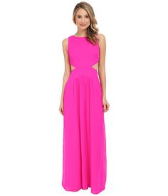 Nicole Miller Queen of the Night Viscose Gerogette Dress Neon Pink - Zappos.com Free Shipping BOTH Ways