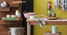 Email-Geschirr in der Küche ist hygienisch und macht mit diesen Glacé-Farben gleich doppelt Spass!