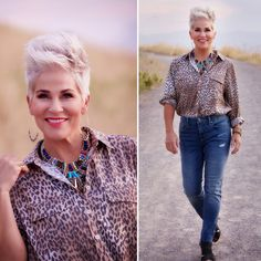 What better FALL ESSENTIALS to have in your closet than the most fabulous silky leopard print shirt, step hem jeans,…