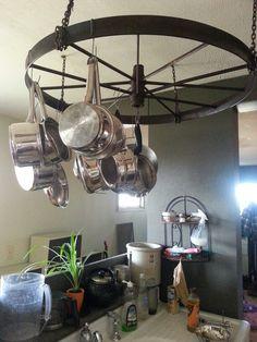 My pot rack, old farm house style!
