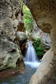 Potami waterfalls in Samos