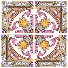 Sintra Antique Handpainted, Portuguese, Tiles - A1-Portuguese tiles - 2 A-Albufeira 4 tile Alternative Tile Art, Mosaic Art, Mosaic Tiles, Cement Tiles, Wall Tiles, China Painting, Tile Painting, Portuguese Tiles, Style Tile