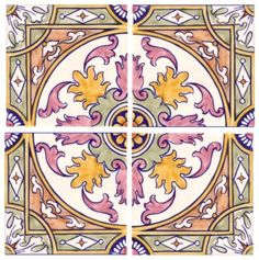 Sintra Antique Handpainted, Portuguese, Tiles - A1-Portuguese tiles - 2 A-Albufeira 4 tile Alternative