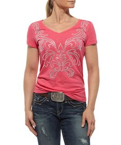 Another great find on #zulily! Cerise Tribal Tee - Women by Ariat #zulilyfinds