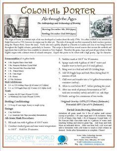 Colonial Porter Recipe