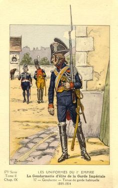 French; Imperial Guard, Gendarmes d'Elite, Gendarme, Tenue de Garde Habituelle, 1805-14