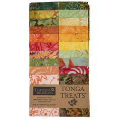 Timeless Treasures Fabrics Tonga Batiks Persimmon Treats Strip Junior PERSIMMON | Fabric Strip Hancocks Of Paducah, Timeless Treasures Fabric, Tonga, Fabric Strips, Free Pattern, Cotton Fabric, Fabrics, Treats, How To Make