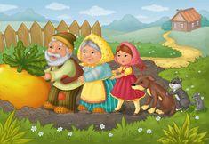 Сообщество иллюстраторов   Иллюстрация Репка. Illustrators, Disney Characters, Fictional Characters, Disney Princess, Painting, Short Stories, Painting Art, Illustrator, Paintings
