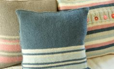 Hand Knitted Cushion Cover  Luxury by BlueberryBarnKnits on Etsy, £35.00