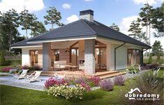 Miriam V - Dobre Domy Flak & Abramowicz Modern Bungalow House, Bungalow House Plans, Modern House Plans, Small House Plans, Modern Bungalow Exterior, Small House Design, Modern House Design, Home Building Design, Building A House
