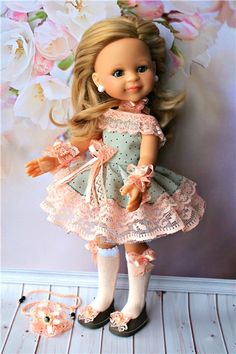 """Комплект """" Персиковая фантазия"""" для Паолок. / Одежда для кукол / Шопик. Продать купить куклу / Бэйбики. Куклы фото. Одежда для кукол"""