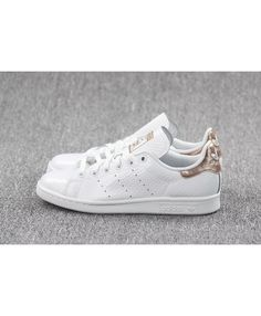 newest bf592 5d47f Adidas Stan Smith Rose Gold Argent Blanc