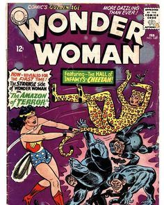 National Comic Book Day is September 25th, and we want to celebrate with some of our favorite feline-themed comic book characters. Dc Comic Books, Comic Book Covers, Comic Book Characters, Comic Character, Wonder Woman Vs Cheetah, Wonder Woman Comic, Batman, Superman, Rolling Stones