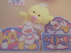 Plastic Canvas Crafts | PUFFALUMPS-DUCK-crafts-plastic-canvas-patterns-baby-nursery-tissue-box ...