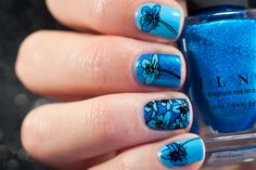 ILNP Blueprint floral nails with MoYou Flower Power 19 How To Stay Awake, Flower Nails, Some Pictures, Looking Gorgeous, Flower Power, My Nails, Nail Art, Flowers, Nail Arts