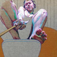"Cristina Troufa, ""Voar 1"", acrylic on canvas"