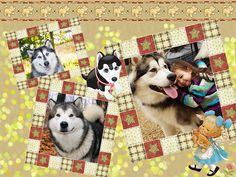 """""""Best friends"""" - lovely collage idea for your kid! We used a collage template from http://ams-collage.com"""