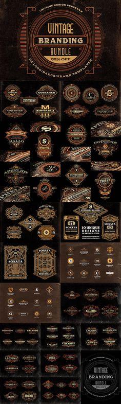 Vintage Designer Mega Bundle by Cruzine on @creativemarket