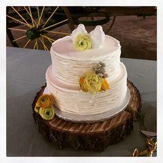 Buttercream ruffles Wedding cake  by Carters Creative Catering