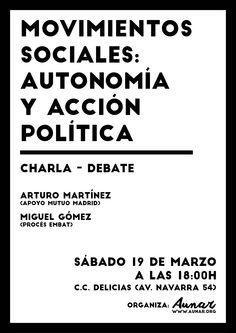 Cartel Aunar / Movimientos sociales: autonomía y acción política