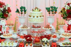 Mesa de decoração para festa de natal! Merry christmas...