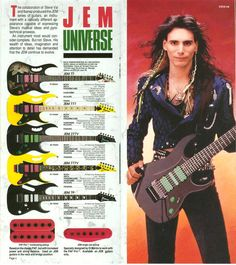 Pic of Steve from 1990 Ibanez catalog.