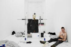 Anne Imhof, Angst, 2016, performance documentation, Kunsthalle Basel, 2016. Photo: Philipp Hänger