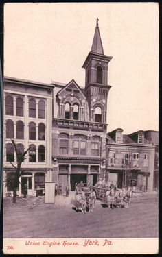YORK PA Union Engine House - 1908 Walgreens Photo Coupon, Old Photos, Vintage Photos, Engine House, York Pa, Great Memories, Fire Department, Pennsylvania, Places To See