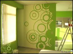 how to paint circles on wall - Google Search