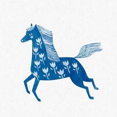Finished illustration. She became a regular horse instead