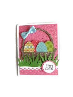 Easter Eggs Card Easter Card Spring Card by lilaccottagecards