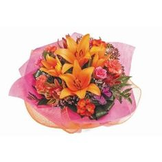Birthday flowers and gifts: 'Bright and Bold'