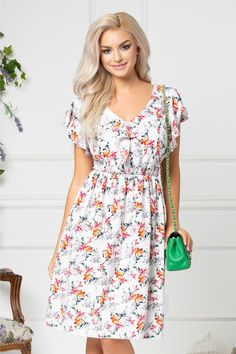 Short Sleeve Dresses, Dresses With Sleeves, Floral, Casual, Handmade, Fashion, Moda, Hand Made, Sleeve Dresses