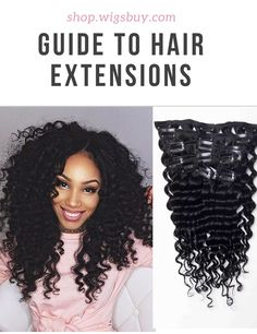 Clip In Afro American Kinky Curly Human Hair 7 PCS Clip In Hair Extensions
