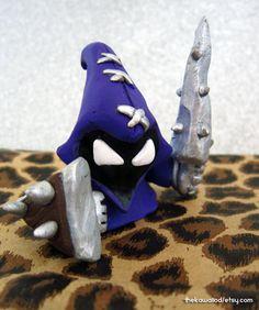 League of Legends Purple Minion Charm Hand sculpted by ThekawaiiOD, $22.00