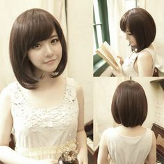 Women Girls Fashion Short Straight Wig Bobo Cosplay Party Full Wigs Hair