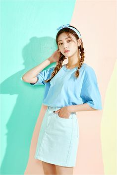 Kooding clothes from ice cream 12 Korean style Street Style Casual Look Chic Asian Style K-POP Ulzzang Favorite Korean Fashion Summer, Korean Fashion Casual, Korean Fashion Trends, Ulzzang Fashion, Korean Street Fashion, Korea Fashion, Korean Outfits, Asian Fashion, Trendy Fashion