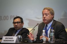 Chairman and CEO of Fairfax Group, Mr. Michael Hershman deliver a speech at the International Anti-Corruption Conference in Putrajaya. — Picture by Yusof Mat Isa