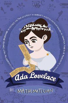 Ada Lovelace Women in science poster Computer Science | Etsy Ada Lovelace, Feminist Icons, Women In History, Computer Science, Poster Prints, Etsy, Computer Technology
